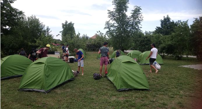 Accueil de groupes d'ado au camping Belle Roche