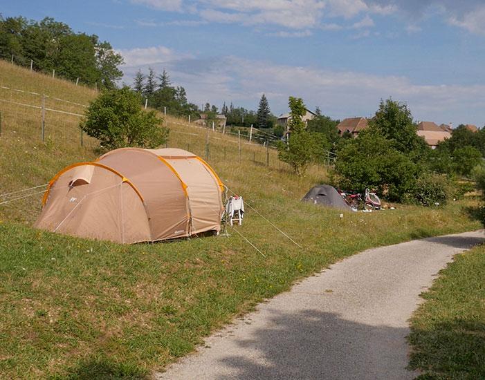 Emplacement Bivouac au camping Belle Roche : pour une étape ou un séjour