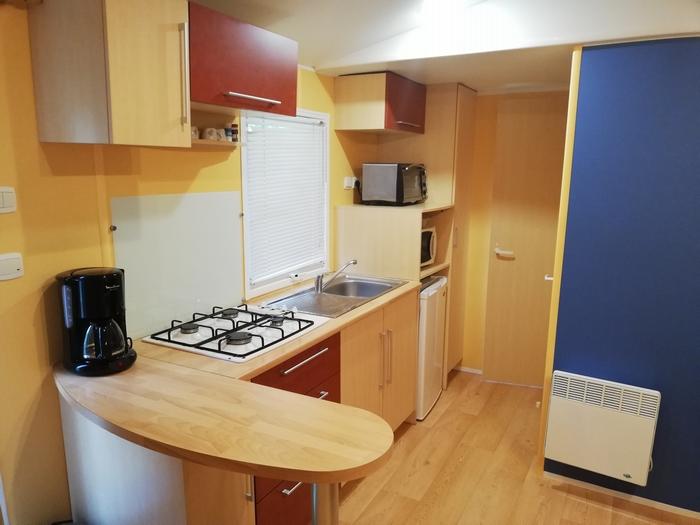 Le Mobil home : la location confortable avec une cuisine toute équipée (6 personnes)