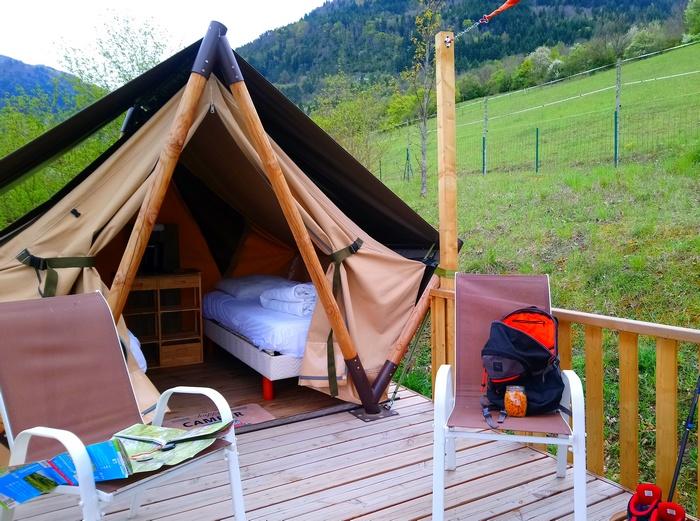 les deux vrais lits de la Tente Liberté