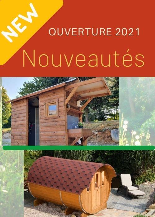 Les nouveautés 2021 : le sauna et les emplacements sani-confort avec sanitaires indivisuels privatifs