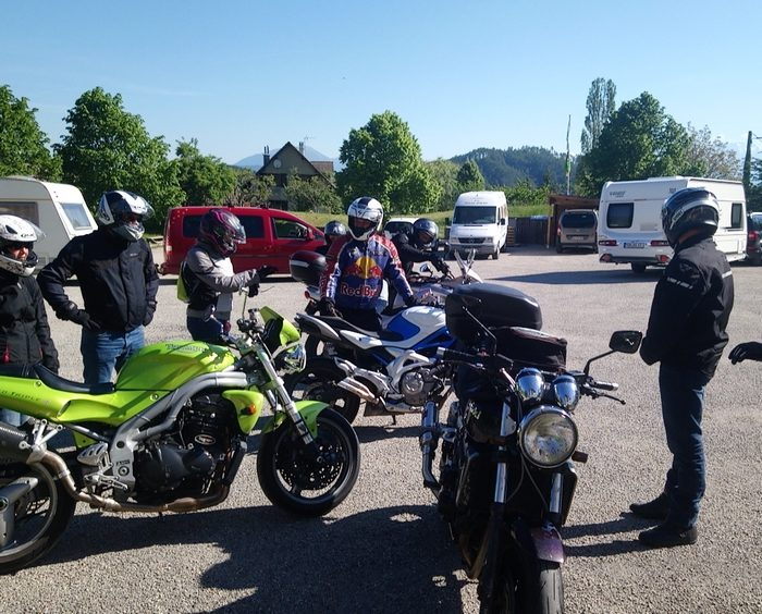 Accueil de groupes de motards
